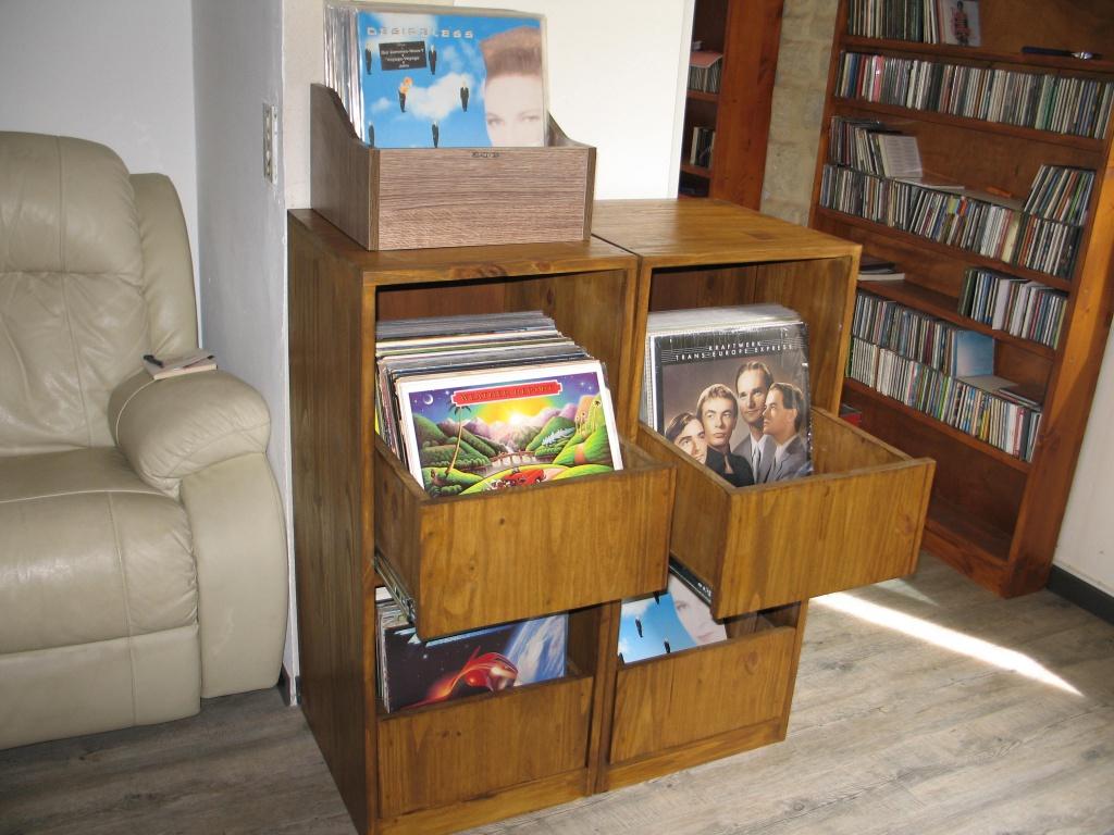 Meuble vinyle avec bac coulissant le forum audiovintage - Juste un meuble ...