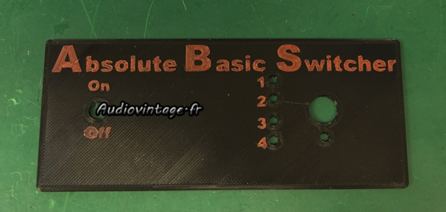 Absolute Basic Switcher : impression 3D de la façade.