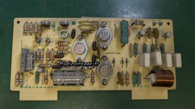 Accuphase E-202 : circuit driver à réviser.