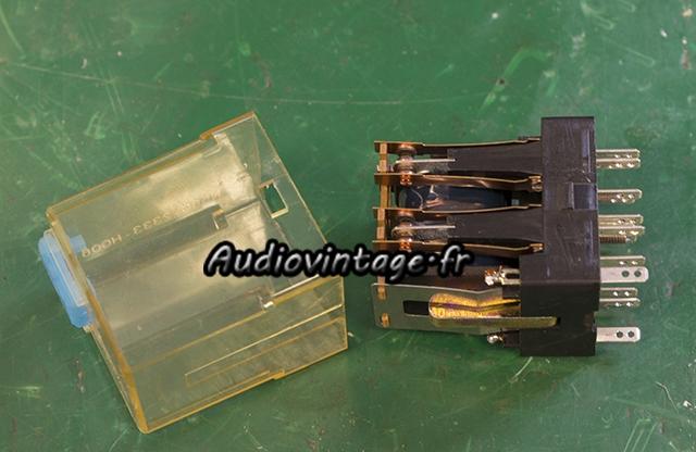 Accuphase E-202 : nettoyage du relais.