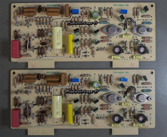 Accuphase P-300 : les circuits drivers réparés et révisés.