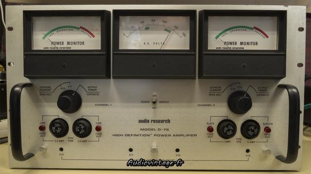 Audio Research D-79A : un appareil de labo qui fait de la musique !