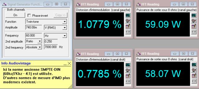 Audio Research D-79A : IMD-à-lécrêtage-sous-8-ohms