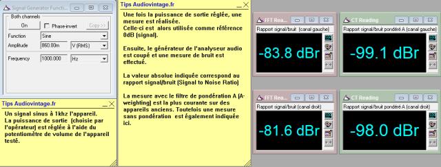 Audio Research D-79A : Rapport-signal-bruit-à-puissance-nominale-sous-8-ohms