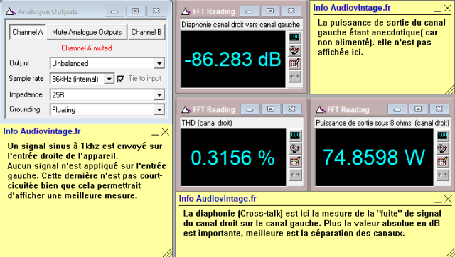 Audio Research D-79A : diaphonie-du-canal-droit-sur-le-canal-gauche-à-puissance-nominale-sous-8-ohms