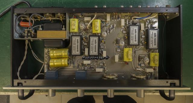 Audio Research SP-7 : à son arrivée, dessus.