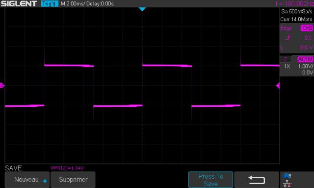 Audio Research SP-7 : signal-carré-à-100hz