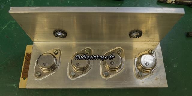 Audioanalyse A9 : transistors neufs en place.