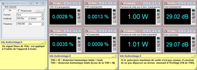 Audioanalyse A9 : distorsion-a-2x1w-sous-8-ohms