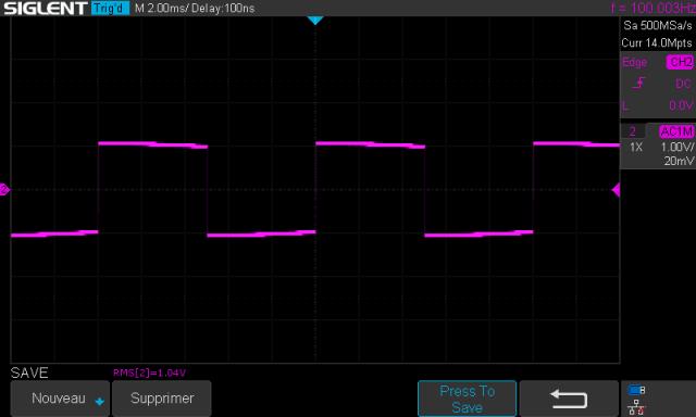 Carver C-1 : signal-carre-a-100hz