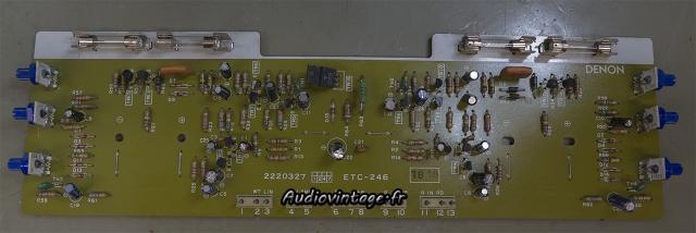 Denon POA-1003 : circuit vumètre déjà révisé par quelqu'un d'autre.