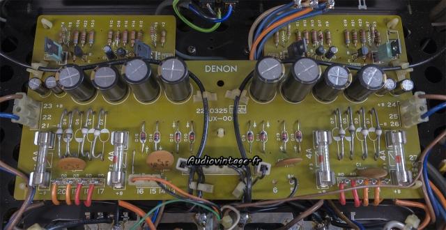 Denon POA-1003 : circuit alimentation révisé.