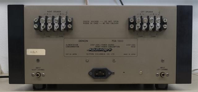 Denon POA-1003 : connectique sérieuse.
