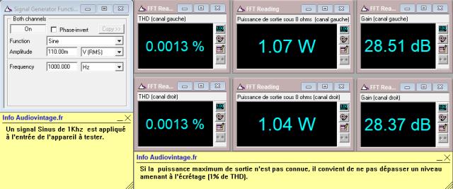 Denon POA-1003 : distorsion-a-2x1w-sous-8-ohms