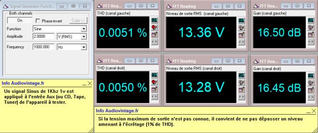 Denon PRA-1003 : distorsion-a-13v-en-sortie-entree-aux-tone-defeat