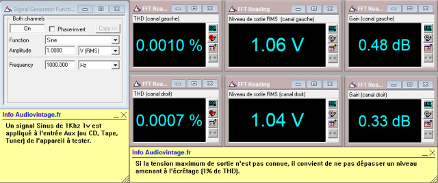 Denon PRA-1003 : distorsion-a-1v-en-sortie-entree-aux-tone-defeat