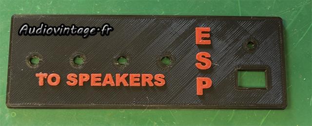External Speaker Protector : impression 3D d'une des face du boitier.