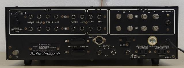Kenwood KA-6000 : connectique.