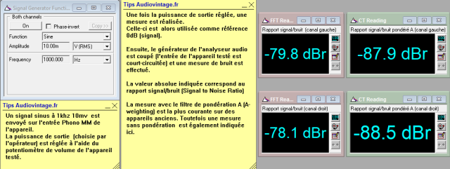 Kenwood KA-6000 : rapport-signal-bruit-a-2x1w-sous-8-ohms-entree-phono-tone-defeat