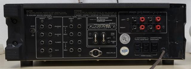 Kenwood KA-8100 : connectique.