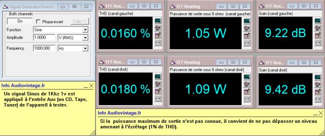 Kenwood KR-9400 : distorsion-a-2x1w-sous-8-ohms-entree-aux-tone-defeat
