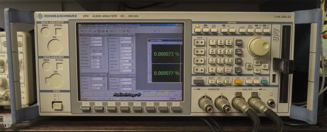 L'analyseur Audio chez Audiovintage : Rohde&Schwarz UPV