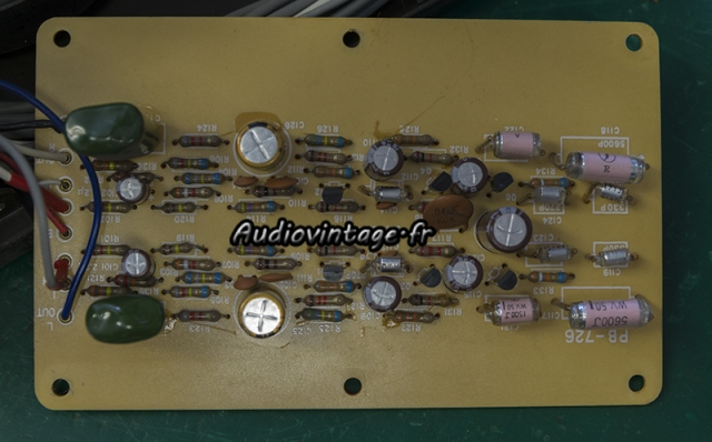 Luxman L-308 : étage phono  révisé.