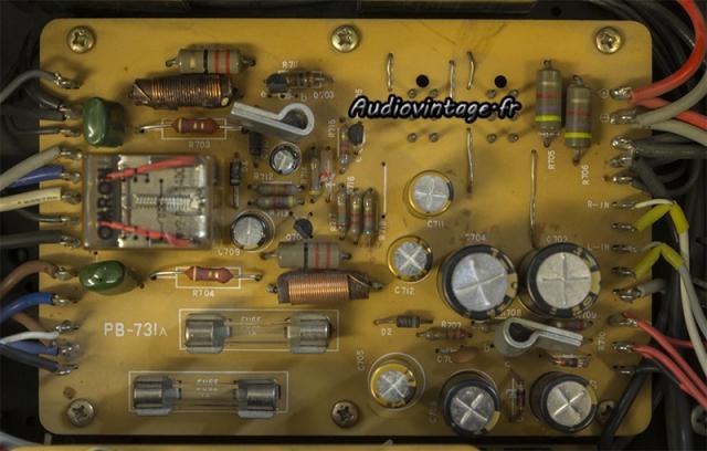 Luxman L-308 : circuit de muting et protection révisé.