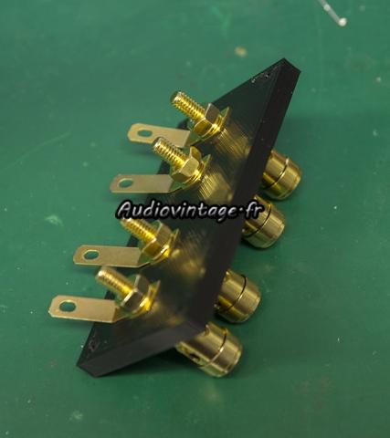 Luxman L-308 : fabrication de borniers.
