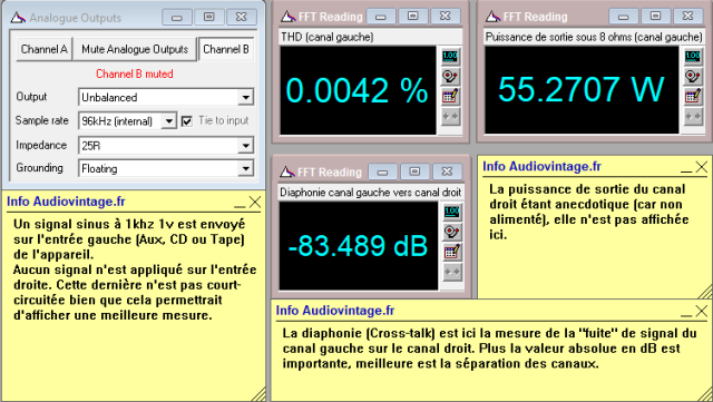 Luxman L-308 : Diaphonie-du-canal-gauche-sur-le-canal-droit-à-puissance-nominale-sous-8-ohms-entrée-aux-tone-defeat