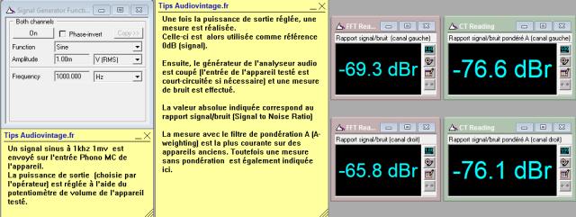 Luxman L-410 : rapport-signal-bruit-a-2x1w-sous-8-ohms-entree-phono-MC-tone-defeat