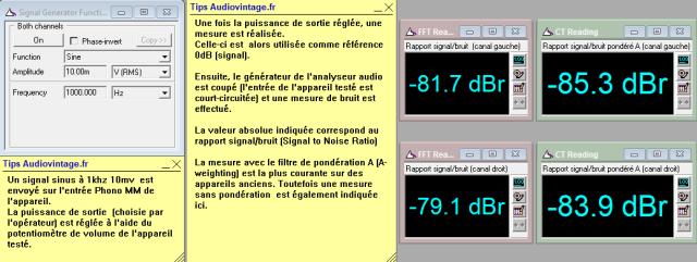 Luxman L-410 : rapport-signal-bruit-a-2x1w-sous-8-ohms-entree-phono-MM-tone-defeat