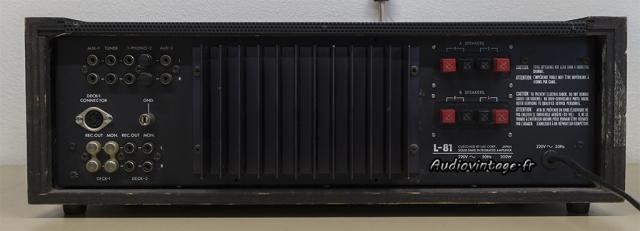 Luxman L-81 : connectique.
