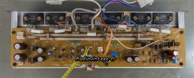 Luxman M-03 : circuit amplification réparé et révisé.