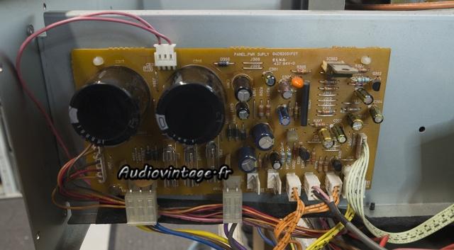 Luxman M-03 : circuit alimentation/protection révisé.