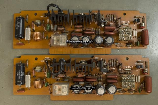 Luxman M-12 : circuits drivers à réviser.