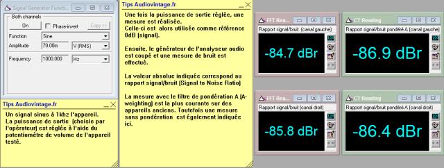 Luxman M-12 : rapport-signal-bruit-a-2x1w-sous-8-ohms