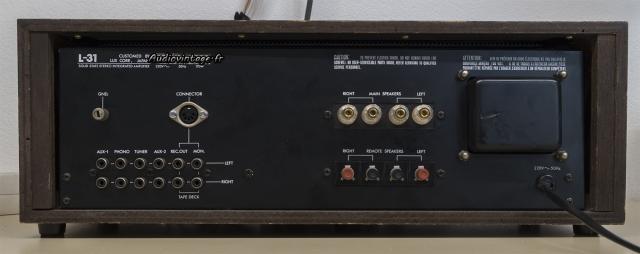 Luxman L-31 : connectique.