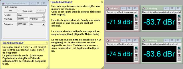 Marantz 1122DC : rapport-signal-bruit-a-2x1w-sous-8-ohms-entree-aux-tone-defeat