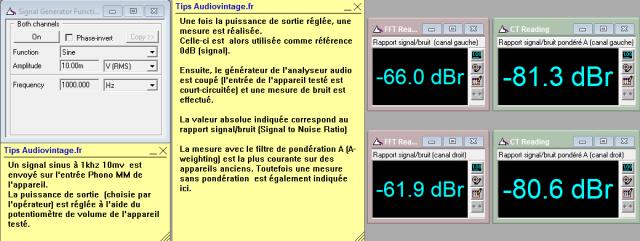 Marantz 2238B : rapport-signal-bruit-a-2x1w-sous-8-ohms-entree-phono