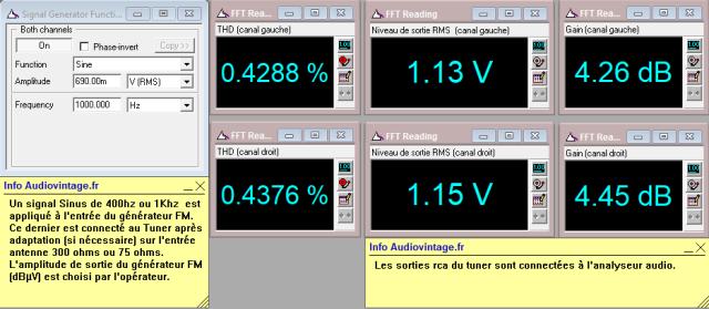 Marantz 2238BL : distorsion-en-FM-stereo-98mhz-70dBµv-avant-reglage