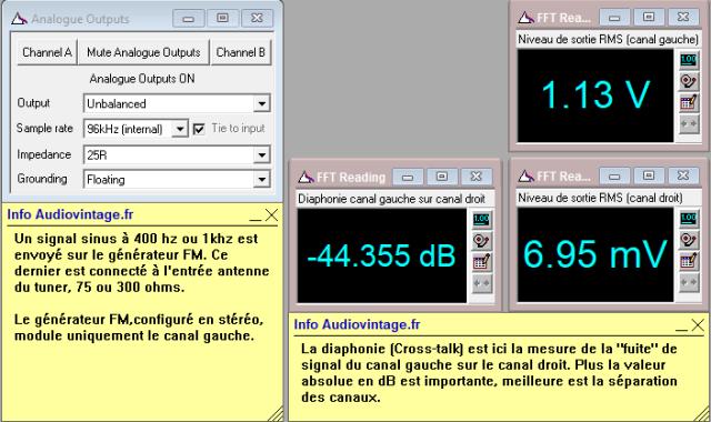 Marantz 2238BL : separation-stereo-du-canal-gauche-sur-le-canal-droit-98Mhz-70DbµV