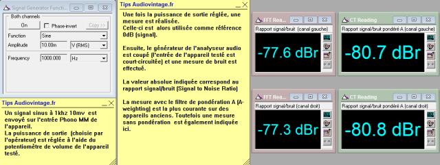 Marantz 2240 : rapport-signal-bruit-a-2x1w-sous-8-ohms-entree-phono