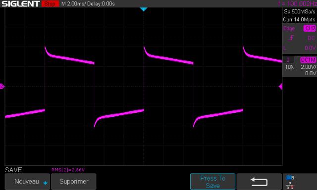 Marantz 2240 : signal-carre-a-100hz