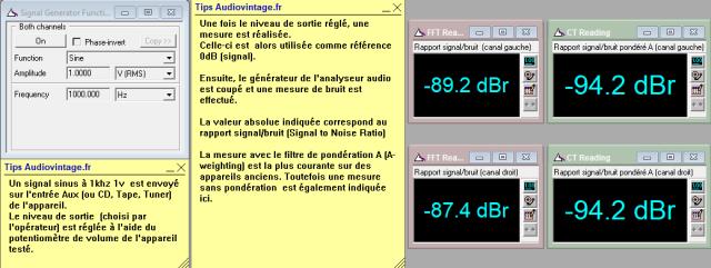 Marantz 3200 : rapport-signal-bruit-a-1v-en-sortie-entree-aux-tone-defeat