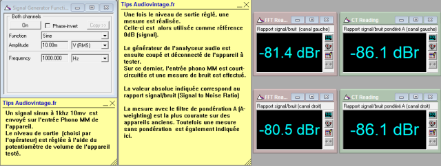 Marantz 3200 : rapport-signal-bruit-a-1v-en-sortie-entree-phono-tone-defeat