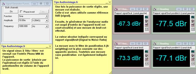 Marantz 4400 : rapport-signal-bruit-a-2x1w-sous-8-ohms-entree-phono-mode-stereo