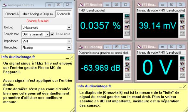 Ortofon MCA-76 : diaphonie-du-canal-gauche-sur-le-canal-droit-1mv-en-entrée