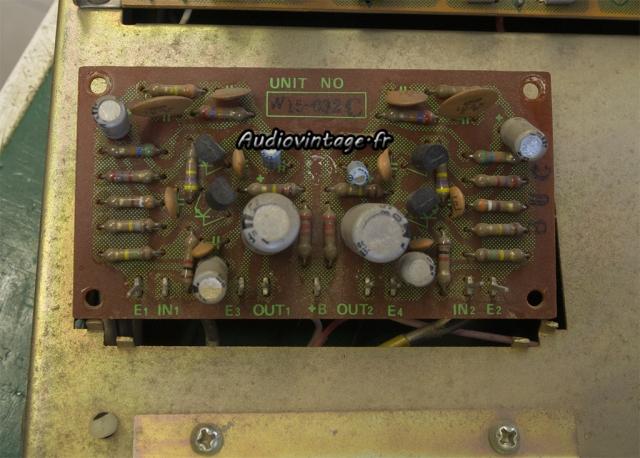 Pioneer SA-500A : circuit phono à réviser.