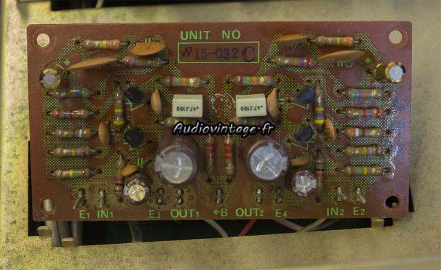 Pioneer SA-500A : circuit phono révisé.